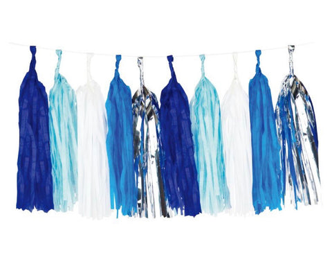 Blue Tassel DIY Garland