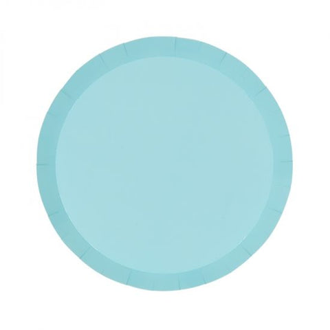 Paper Snack Plate Classic Pastel Blue (Pack Of 10)
