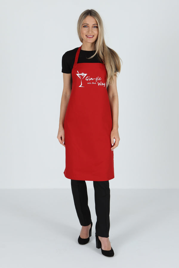 Apron - Gin gle all the Way Print
