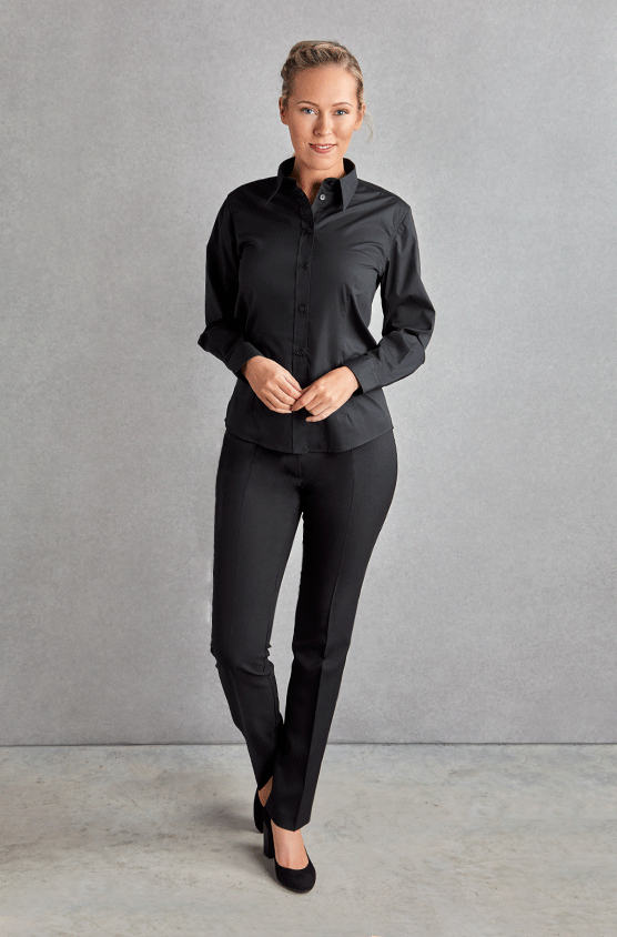 Ladies Long Sleeve Bar Shirt