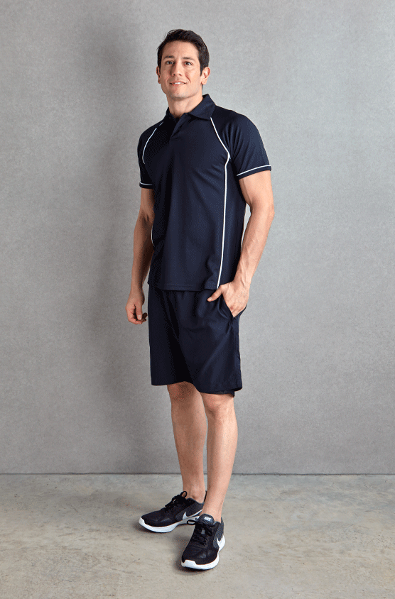 Gents Piped Performance Polo Shirt