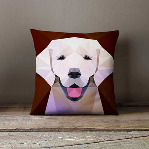 Personalized Geometric Labrador Dog Pillowcase |
