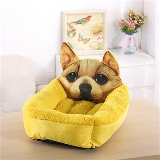 Stylish Cartoon Dog/Cat Bed
