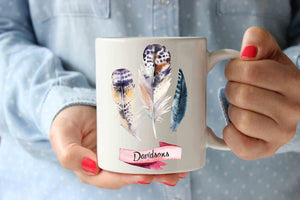 Coffee Mug | Family Feathers Personalized Mug | - Lewis Luxury Furniture and Interior Design