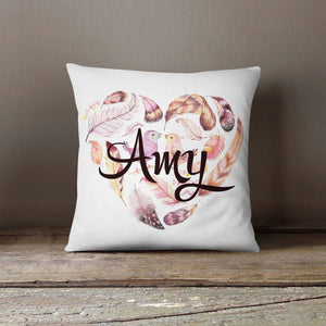 Personalized Pillowcase Birds Feathers |