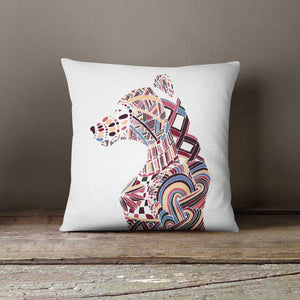 Bear Hand Drawn White Pillowcase | Decorative - Lewis Luxury Furniture and Interior Design