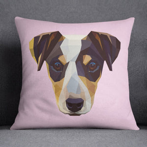 Geometric Jack Russell Terrier Decorative Throw