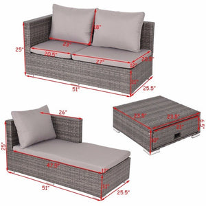 3PCS Rattan Wicker Sofa Furniture Set - Lewis Luxury Furniture and Interior Design