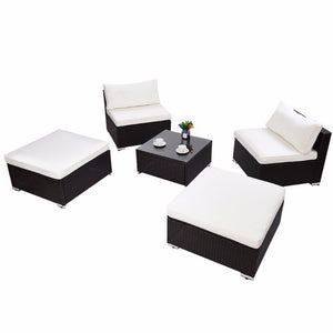 5 PC Patio Sectional Lounge Rattan - Lewis Luxury Furniture and Interior Design