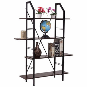 4 Layers Wooden Bookshelf Storage Organizer - Lewis Luxury Furniture and Interior Design