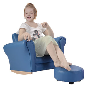 Kids Sofa With Footstool Armrest Chair