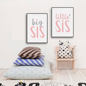 Little Sister Quote Poster Canvas Print Wall Art