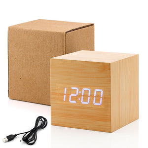 Voice-activated Cube Alarm Clock