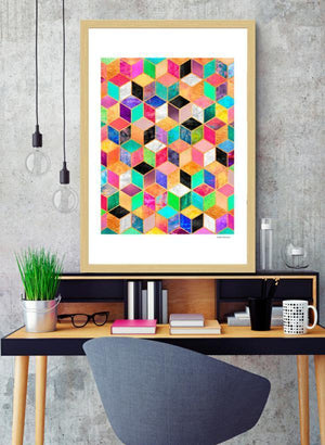 Colorful Cubes  Frame - Lewis Luxury Furniture and Interior Design