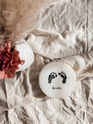 Footprints Embroidery
