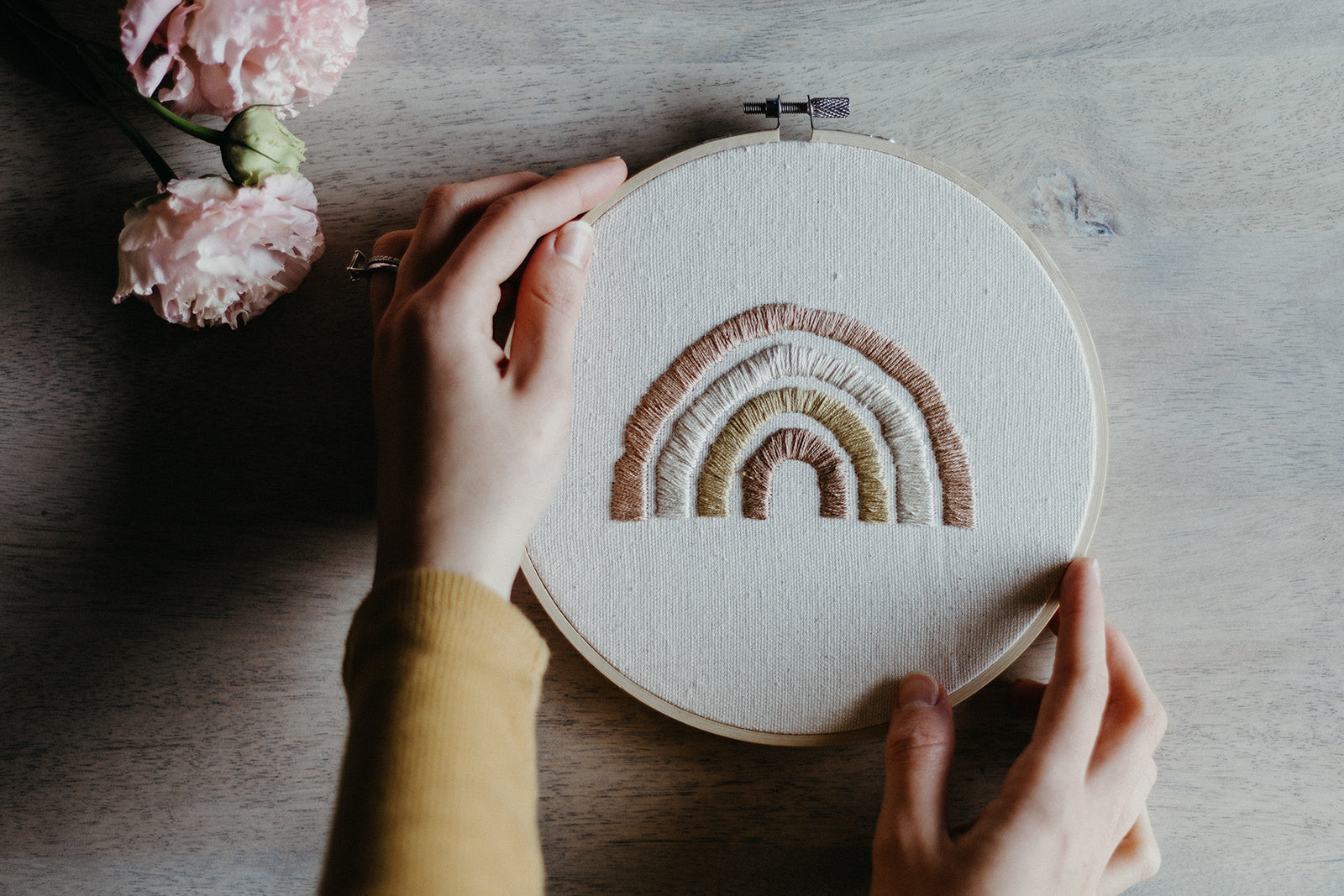 Rainbow Embroidery Hoop