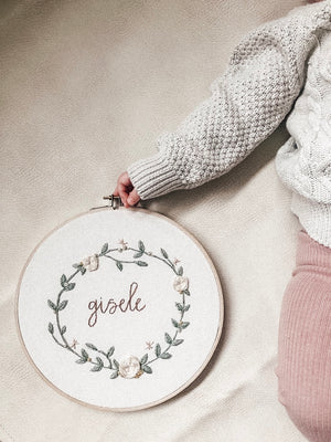 Custom Baby Name Embroidery Hoop