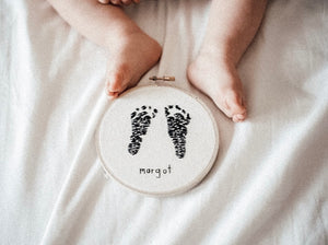 Footprints Embroidery Hoop