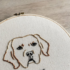 Custom Pet Outlining Embroidery Hoop