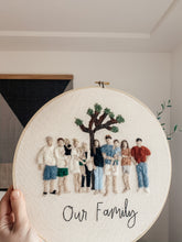 Load image into Gallery viewer, Felt Family Portrait Embroidery Hoop