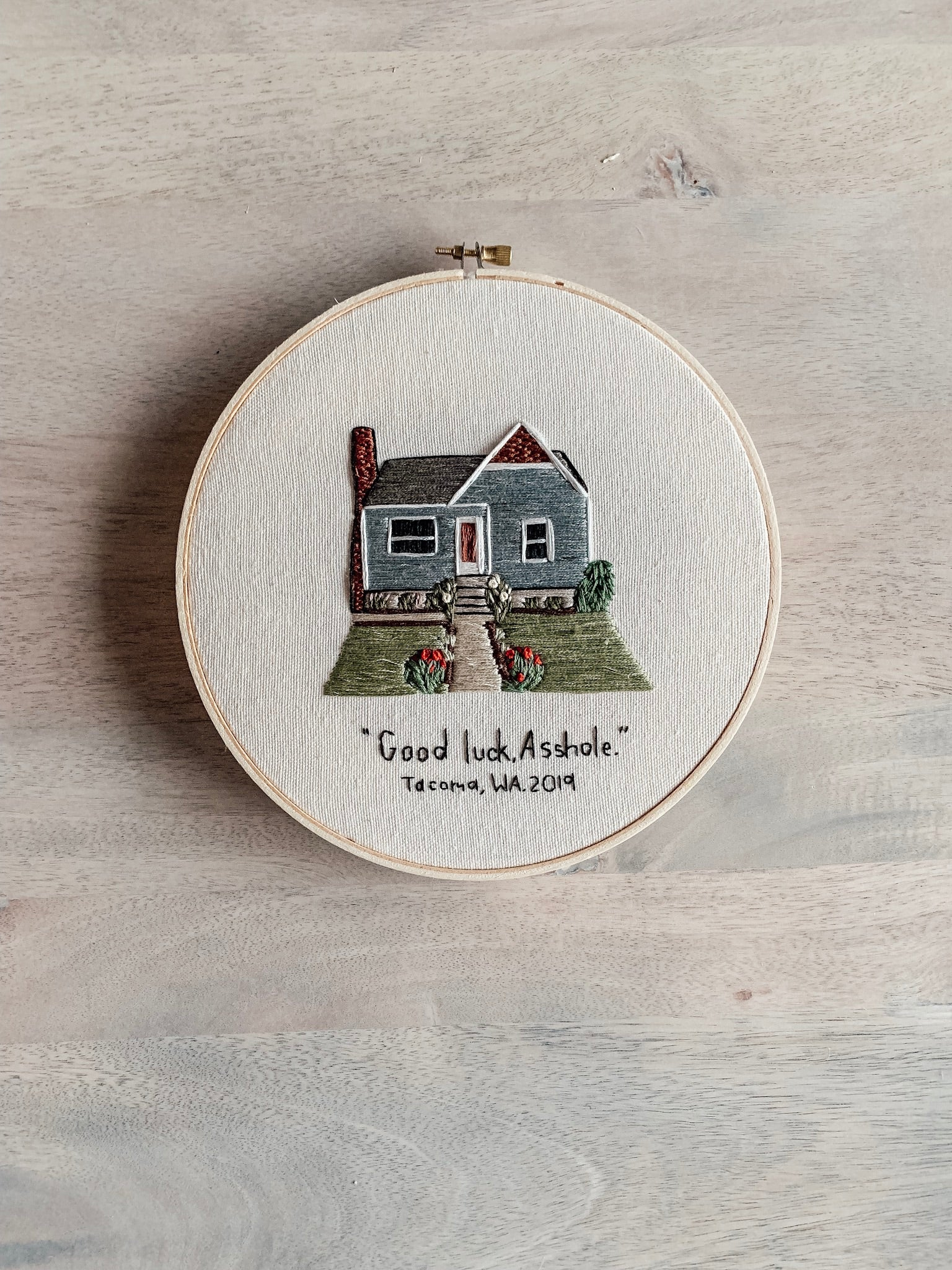 Custom Home Embroidery Hoop