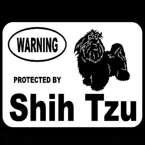Protected by Shih Tzu Car Window Sticker - Posh Puppies Boutique