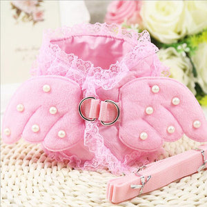 Cute Angel Wing Princess Dog Leash (Also in Blue)