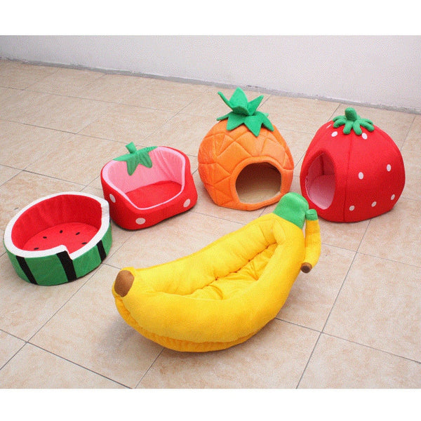 Adorable Fruit Shape Dog Bed - Posh Puppies Boutique