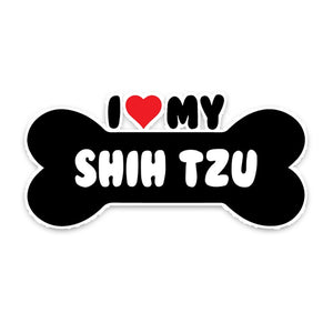 I Heart my Shih Tzu Car Sticker Decal
