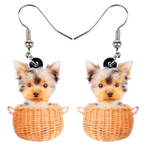 Yorkie Puppy Yorkshire Terrier Dangle Earrings - Posh Puppies Boutique