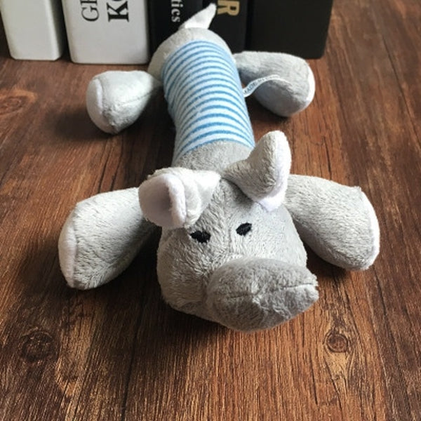 Cute Fleece Plush Squeak Dog Toy - Posh Puppies Boutique