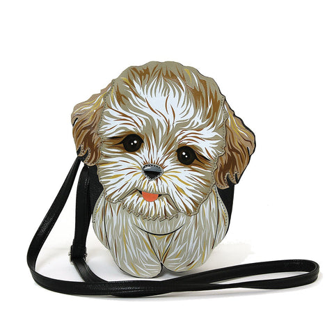Lovely Shih Tzu Puppy Shoulder Crossbody Bag