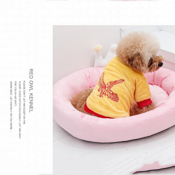 Removable Crown Dog Bed Mat (Also in Pink) - Posh Puppies Boutique