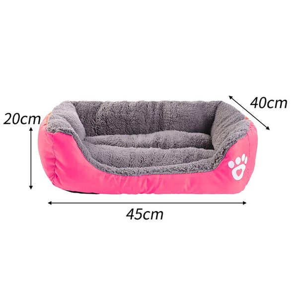 Paw Print Comfy Dog Bed - Posh Puppies Boutique