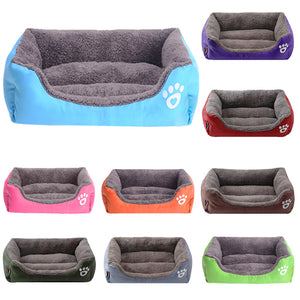 Paw Print Comfy Dog Bed