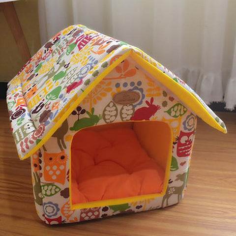 Fun Print Dog Bed House (5 Colors & Styles)