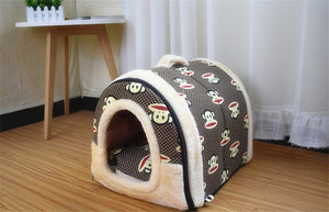Foldable Dog Bed House Igloo Shape (7 Colors, Assorted Sizes) - Posh Puppies Boutique