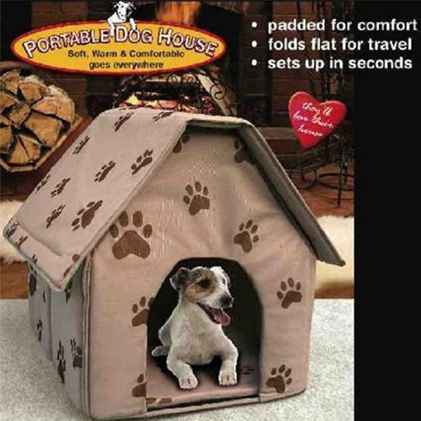 Adorable Paw Print Dog House Bed - Posh Puppies Boutique