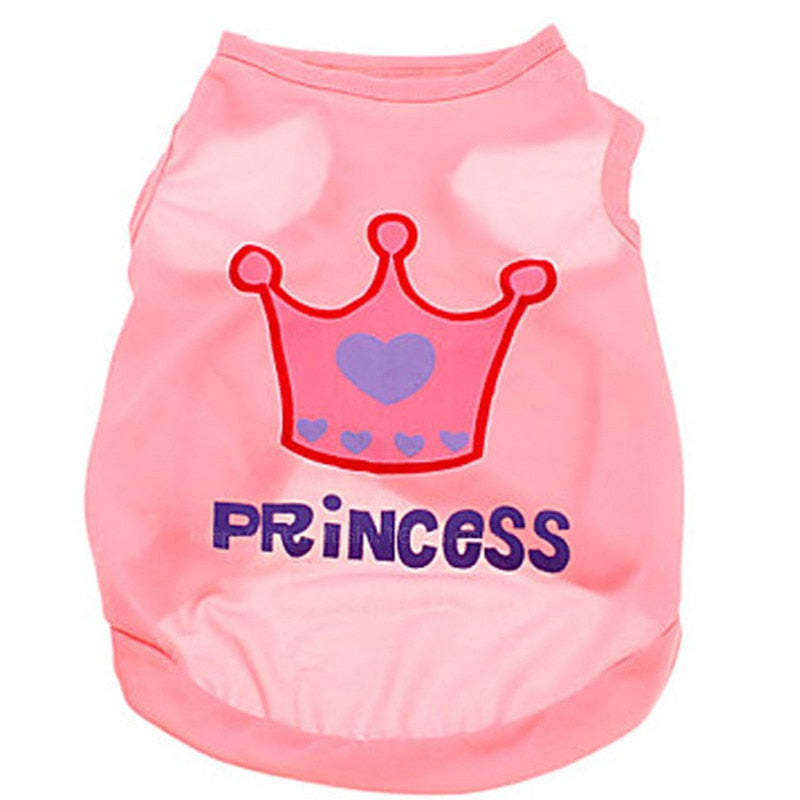 Princess Crown Posh Dog T Shirt - Posh Puppies Boutique