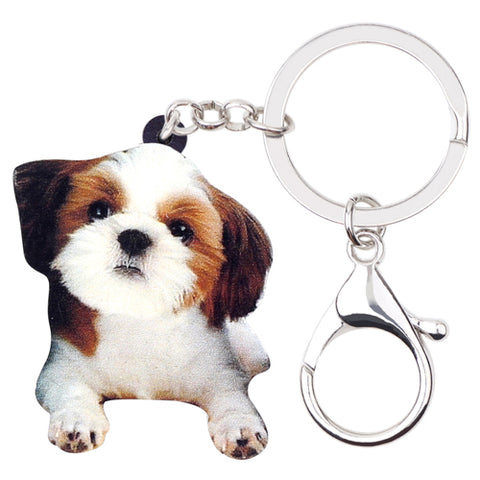 Cute Shih Tzu Key Chain - Posh Puppies Boutique