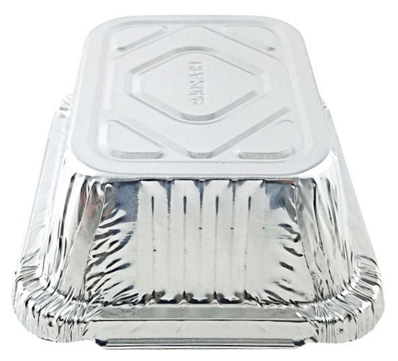 Handi-Foil 1 lb. Oblong Take-Out Foil Pan w/Board Lid Combo 50/PK
