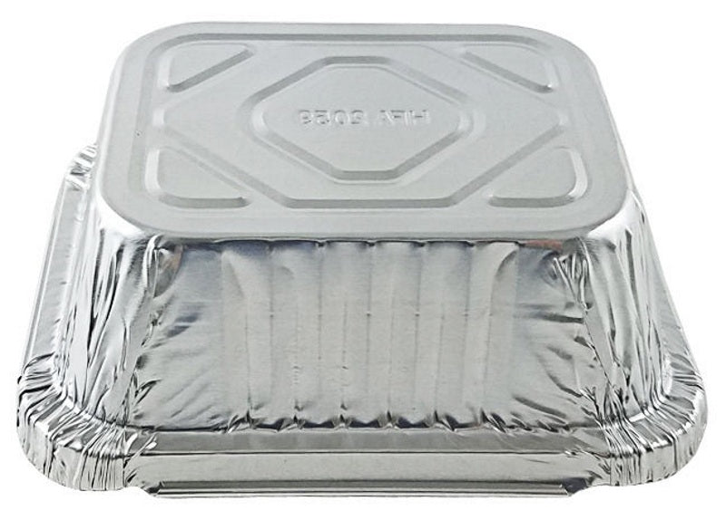 Handi-Foil 1 lb. Oblong Take-Out Foil Pan w/Board Lid Combo 1000/CS