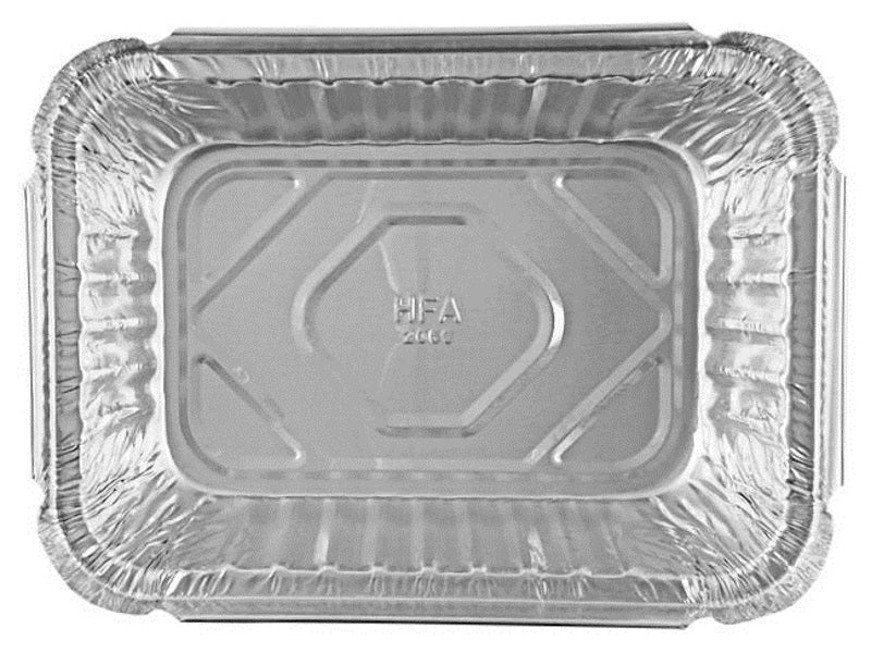 Handi-Foil 1 1/2 lb. Oblong (Deep) Take-Out Foil Pan w/Dome Lid 50/PK