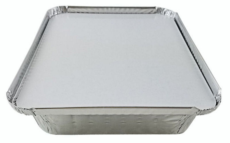 1 1/2 lb. Oblong Shallow Foil Pan w/Board Lid