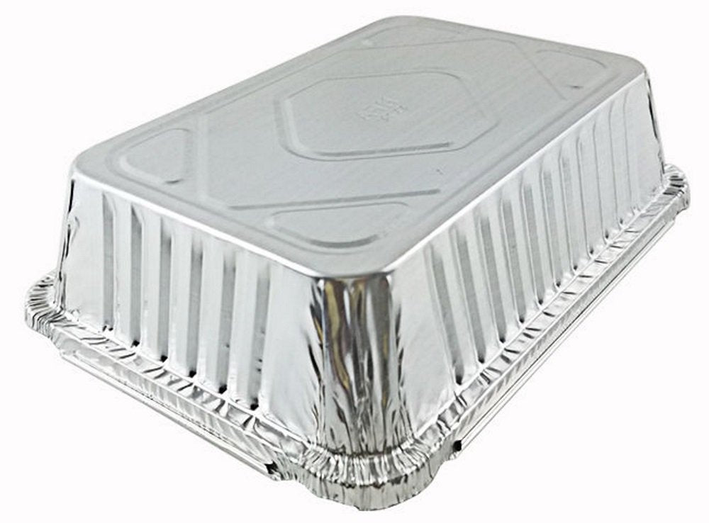 2 1/4 lb. Oblong Foil Take-Out Pan w/Dome Lid