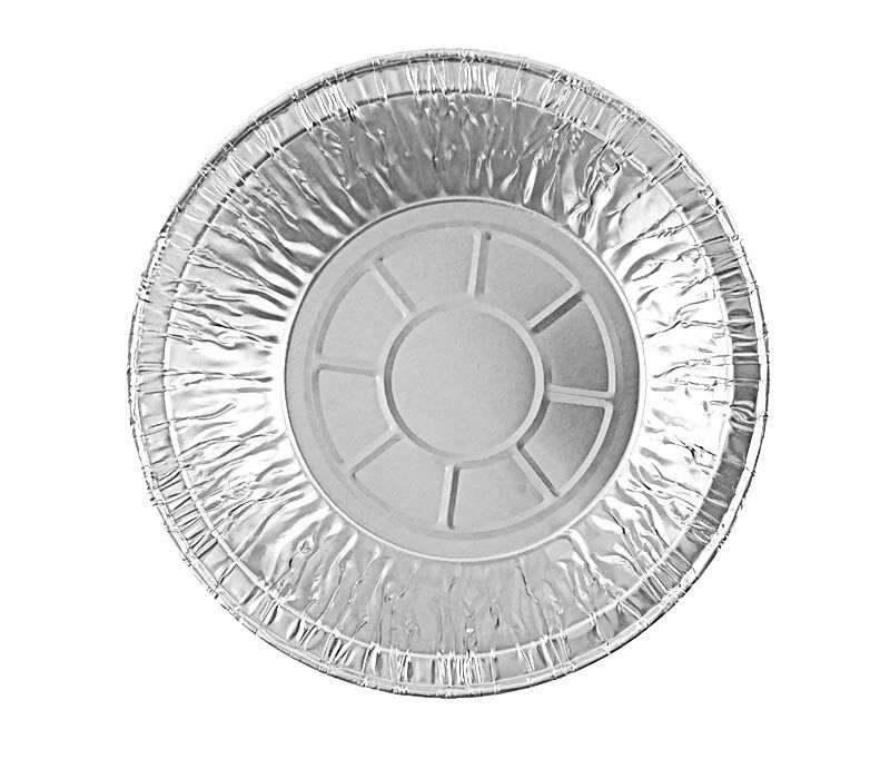 "Durable 5 3/4"" Aluminum Foil Meat Pot Pie Pan 1 13/16"" Deep 50/PK"