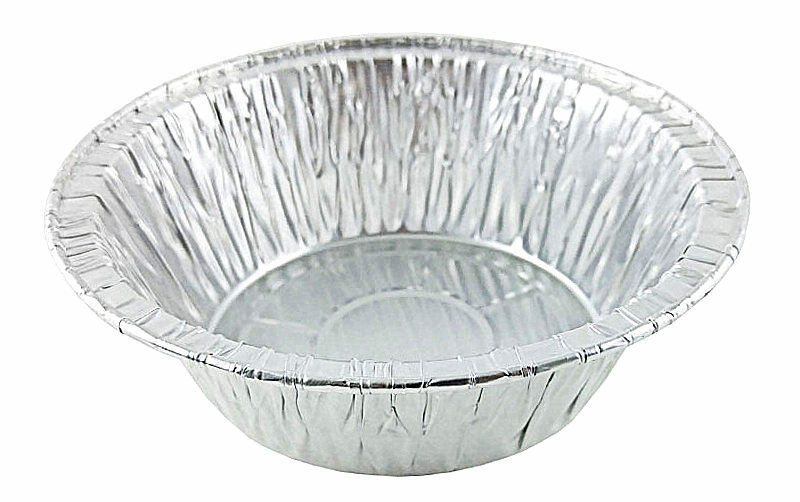 "Durable 5 3/4"" Foil Meat/Pot Pie Pan 1 13/16"" Deep 1000/CS"