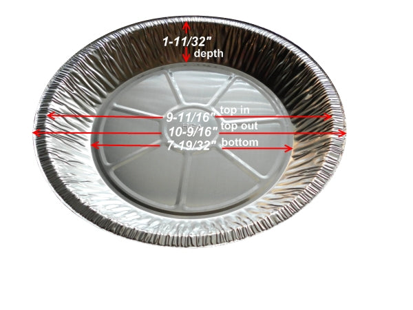 "11"" Extra Deep Foil Pie Pan 1-11/32"" Deep"