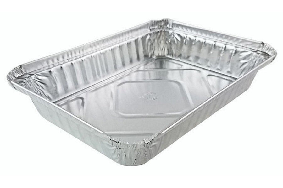 Handi-Foil 1 1/2 lb. Oblong Take-Out Foil Pan - Shallow 500/CS