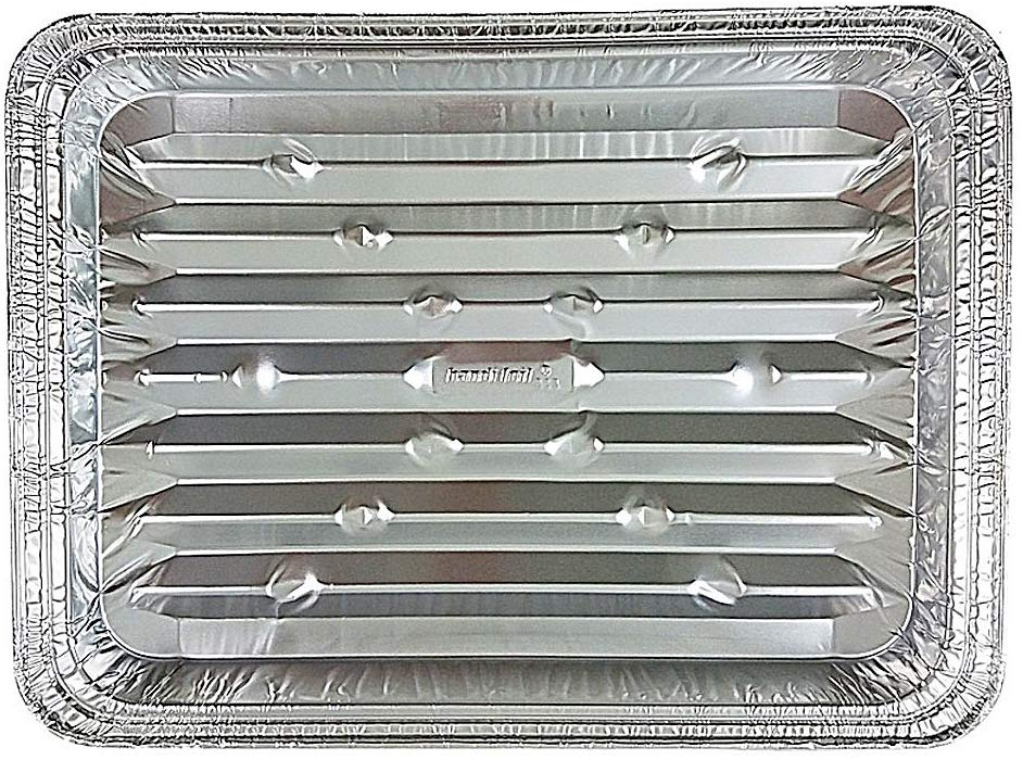 Handi-Foil Disposable Aluminum Foil Broiler Baking Cooking Pan 200/CS